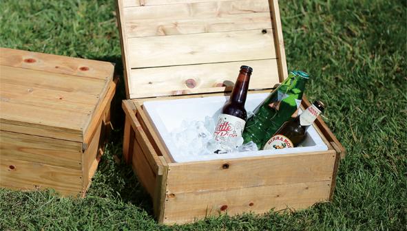 木製クーラーボックス