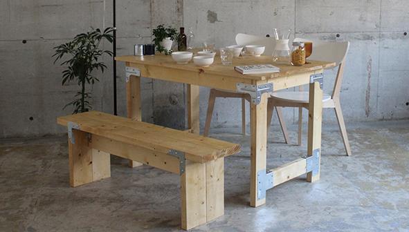 シンプソン金具で作るテーブル