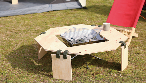 PLAYWOOD90で作る焚き火台テーブル