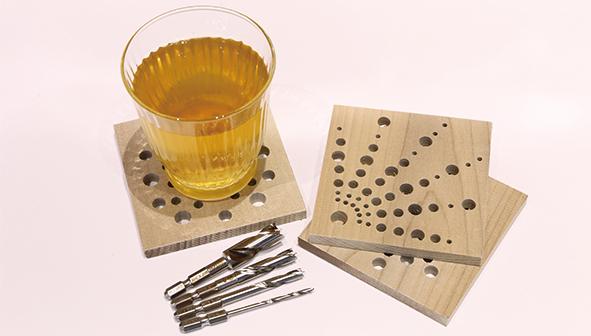竹用ドリルで作るコースター